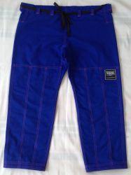 Calça azul royal TK com costura rosa