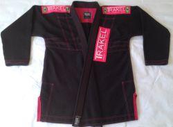Kimono Black + com costura rosa