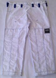 Calça White + com costura azul royal