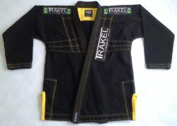 Kimono Black + com costura amarela