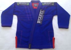 Kimono blue + com costura vermelha