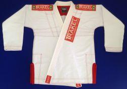 Kimono White + com costura vermelha