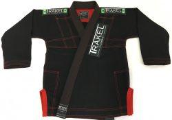 Kimono infantil preto com costura vermelha