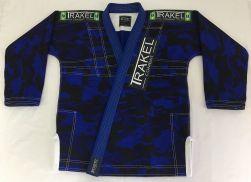 Kimono camuflado azul - Calça em rip stop.